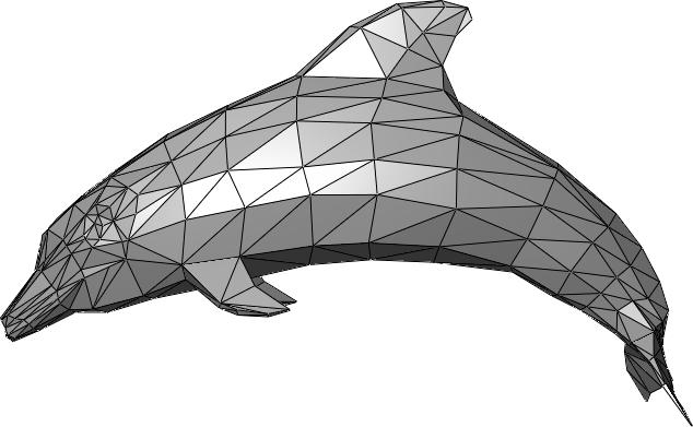 Fig.1 Dolphin represented with triangular mesh