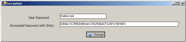 Encrypting Passwords using Sha and MD5 Encryption techniques in  Net