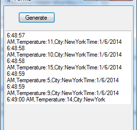 A simple event notifier for winforms